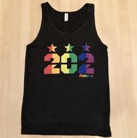 Men's 202 Stars Pride Rainbow Tank - Charcoal Black TriBlend