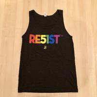 Men's RE51ST Pride Rainbow Tank - Charcoal Black Triblend