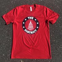 Unisex District Seal T-shirt - Red (White & Navy imprint)