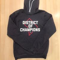 Unisex Hoodie - DISTRICT of CHAMPIONS - Heather Navy (Red & White print)