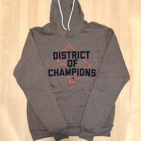 Unisex Hoodie - DISTRICT of CHAMPIONS - Deep Heather (Navy & Red print)