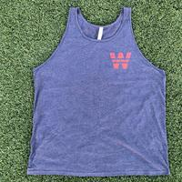 "<font color=""red""><B>***NEW***</B></font>Unisex ""W Stars"" Tank Top- Heather Navy (Red Imprint)"