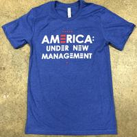 "<font color=""red""><B>***LIMITED EDITION***</B></font> Unisex America: Under New Management - Heather True Royal"