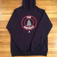 Unisex District Seal Hoodie- Navy (Red & White Imprint)