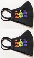 "<font color=""crimson""><B>***NEW***</B></font>202 Stars Rainbow Pride - Cotton/Poly Mask - 2 Pack"