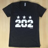 Ladies 202 Stars - Black (White Imprint)