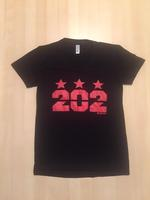 Ladies 202 Stars - Black (Red Imprint)