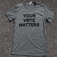 "<font color=""red""><B>***LIMITED EDITION***</B></font> Unisex Your Vote Matters T-shirt - Deep Heather Grey"