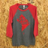 Unisex 3/4 Sleeve 51st State - Grey (Red Imprint)
