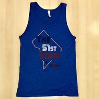 Men's <B><U>The</U></B> 51st State Tank Top- Royal (Red, White & Blue Imprint)