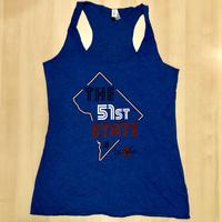 <font color=&quot;red&quot;><B>***SALE***</B></font> Ladies <B><U>The</U></B> 51st State Tank Top- Royal (Red, White & Blue Imprint)