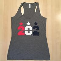 Ladies 202 Stars RWB Tank- Grey Triblend