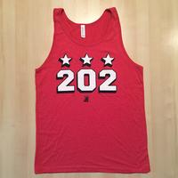 Men's 202 Stars Block Shadow Tank- Red