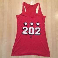 Ladies 202 Stars Block Shadow Tank - Red