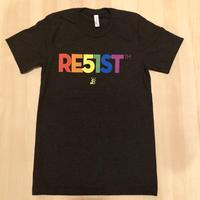 Men's RE51ST Pride Rainbow T-shirt - Charcoal Black Triblend