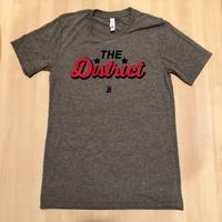 Men's The District Script - Grey Triblend (Red & Navy Imprint)
