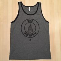 Men's District Seal Tank Top - Grey w/Black Piping