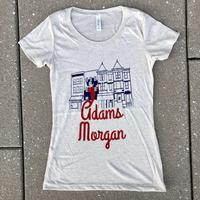 "Ladies ""Adams Morgan"" Oatmeal Triblend shirt"