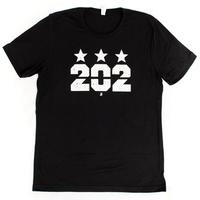 Unisex 202 Stars T-shirt - Solid Black Blend (White imprint)
