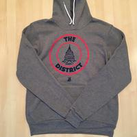 Unisex Hoodie District Seal -  Deep Heather (Red & Navy imprint)