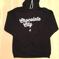 Unisex Hoodie Chocolate City -  Black (White imprint)