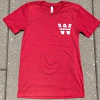"<font color=""red""><B>***NEW***</B></font>Unisex ""W Stars"" T-shirt - Heather Red (White Imprint)"
