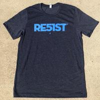 Unisex RE51ST T-shirt - Heather Midnight Navy (Light Blue Imprint)