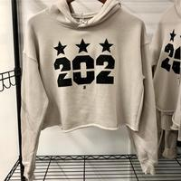 "<font color=""red""><B>***NEW***</B></font>Ladies 202 Stars Sponge Fleece Cropped Fleece Hoodie - Heather Dust"