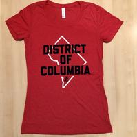 Ladies District of Columbia - Red (Navy & White Imprint)
