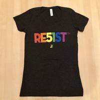 Ladies RE51ST Pride Rainbow T-shirt - Charcoal Black Triblend