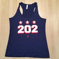 Ladies 202 Stars Block Shadow Tank - Navy (White & Red Imprint)