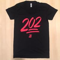 Ladies 202 Emoji - Black (Red Imprint)