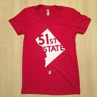 Ladies 51st State - Red (White Imprint)