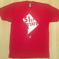 Men's 51st State - Red (White Imprint)