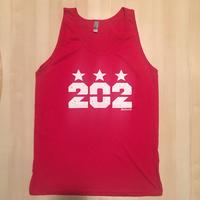 Men's 202 Stars Tank Top - Red (White Imprint)