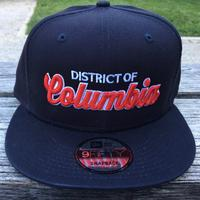 Unisex District of Columbia Hat - Navy (Red Embroidery)