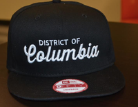 Unisex District of Columbia Hat - Black (White Embroidery)