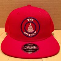 Unisex District Seal Hat - Red (Navy & White embroidery)