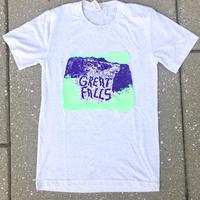 "<B><font color=""red"">***CLEARANCE LARGE***</font>Unisex</B>""Great Falls"" White Fleck Triblend shirt"