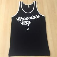 Men's Tank Chocolate City - Black/White