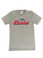 Men's The District Script T-shirt - Grey Triblend (Red & Navy Imprint)