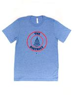 Men's District Seal T-shirt- Athletic Blue (Red & Navy Imprint)