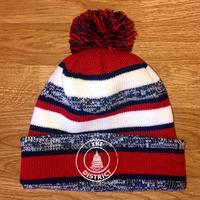 "<font color=""red""><B>***NEW***</B></font>Unisex District Seal Knit Hat - Red, Navy, & white"