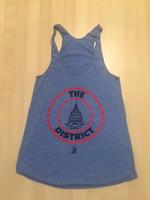 Ladies Seal Tank- Athletic Blue (Red & Navy Imprint)