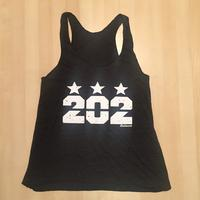 Ladies 202 Stars Tank - Tri-Black (White Imprint)