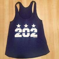Ladies 202 Stars Tank - Tri-Indigo (White Imprint)