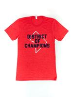 "<font color=""red""><B>***SALE***</B></font>Unisex - DISTRICT of CHAMPIONS T-shirt - Heather Red (Navy & White Imprint)"