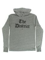 "Unisex ""The District"" Olde English Hoodie- Deep Heather Grey (Black Imprint)"