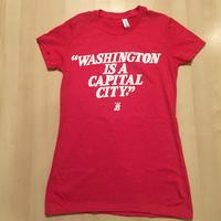 Ladies Washington is a Capital City - Heather Red (White Imprint)